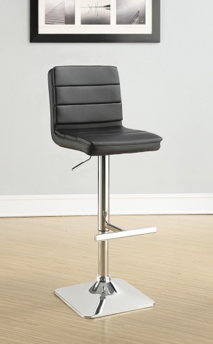 120695 Adjustable Bar Stool - Chrome/Black
