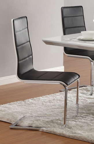 Broderick Modern Side Chair - Black