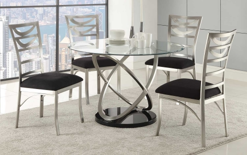 Tapia Dining Set - Silver Metal