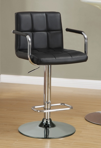 121095 Adjustable Bar Stool - Black