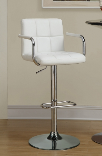 121097 Adjustable Bar Stool - White