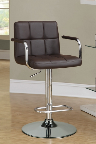 121099 Adjustable Bar Stool - Brown