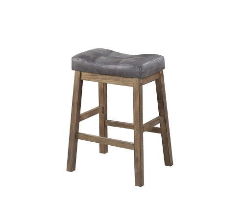 121519 Counter Height Stool - Brown/Driftwood