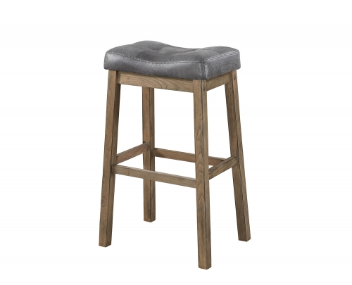 121520 Bar Stool - Brown/Driftwood