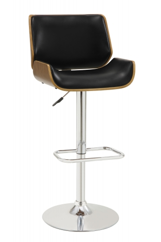 130502 Adjustable Bar Stool - Black