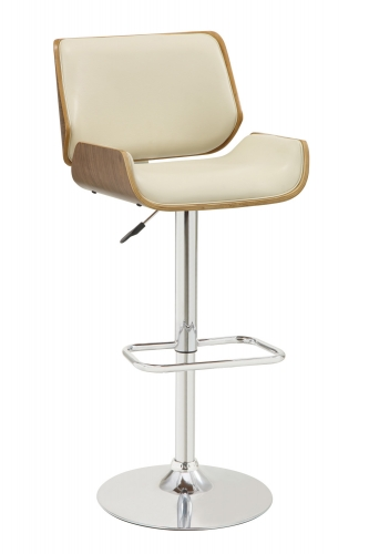 130503 Adjustable Bar Stool - Ecru