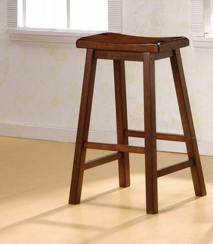 180079 Bar Stool - Dark Walnut