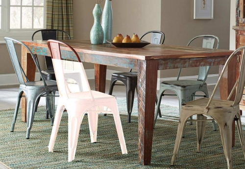 Keller Rectangular Dining Table - Multi-Color