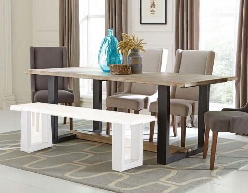Levine Rectangular Dining Table - Weathered Grey