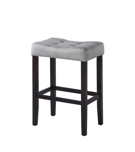 182013 Bar Stool - Grey Fabric