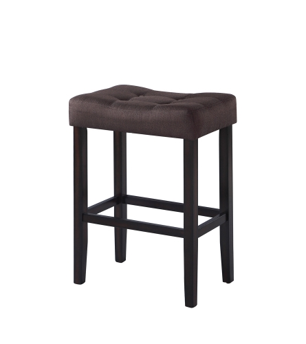 182014 Bar Stool - Brown Fabric