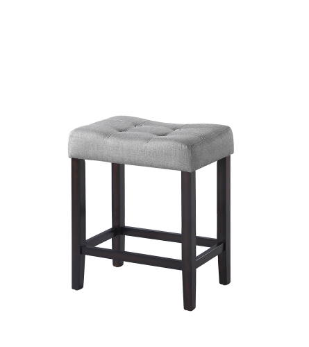 182016 Counter Height Stool - Grey Fabric