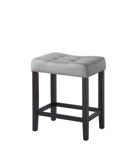 182016 Counter Height Stool - Grey Fabric