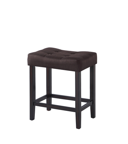 182017 Counter Height Stool - Brown Fabric