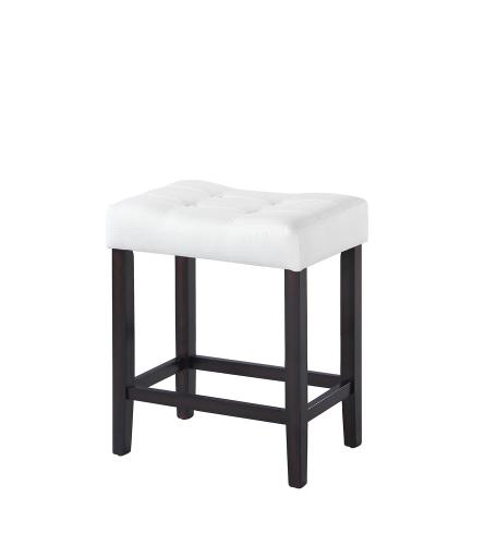 182018 Counter Height Stool - White Fabric