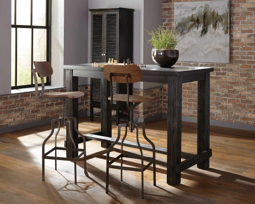 Jacinto Bar Dining Set - Antique Black