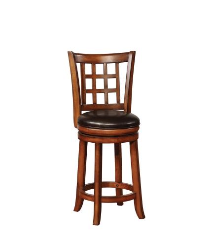 182023 Swivel Bar Stool - Black/Golden Brown