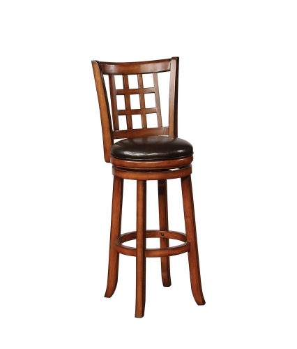 182024 Swivel Bar Stool - Black/Golden Brown