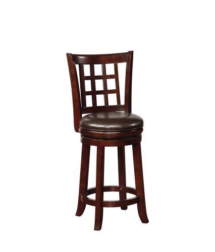 182026 Swivel Bar Stool - Black/Merlot