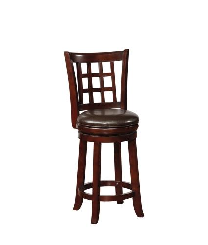 182026 Swivel Bar Stool - Black/Merlot