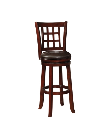 182027 Swivel Bar Stool - Black/Merlot