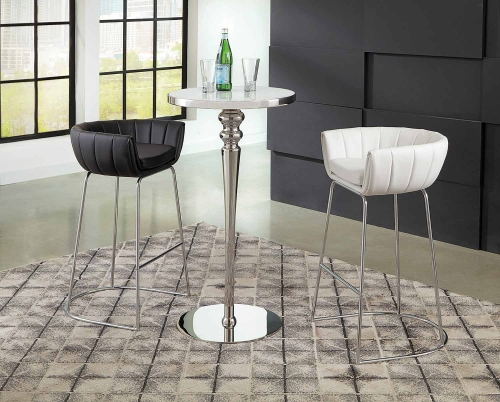 Dixon Bar Dining Set - White