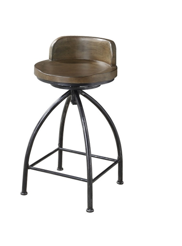 182047 Swivel Bar Stool - Cognac/Black