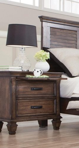 Franco Nightstand - Burnished Oak