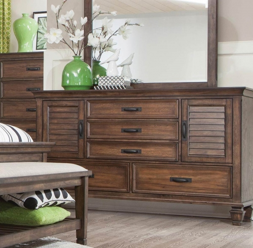 Franco Dresser - Burnished Oak