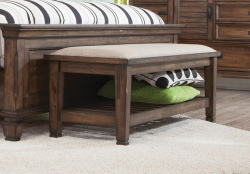 Franco Bench - Burnished Oak