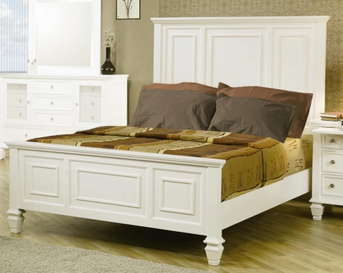 Sandy Beach Light Low Profile Panel Bed