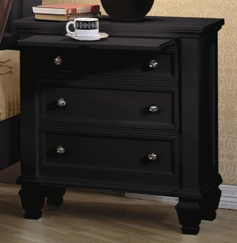 Sandy Beach Dark 3 Drawer Night Stand