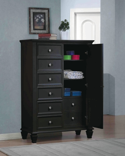 Sandy Beach Door Chest - Black