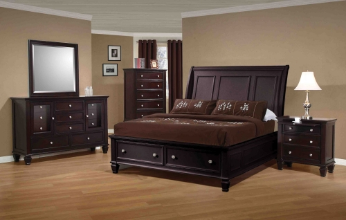 Sandy Beach Bedroom Set - Cappuccino
