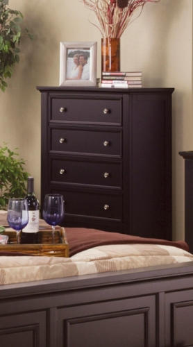 Sandy Beach 5 Drawer Chest - Cappuccino