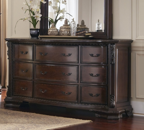 Maddison Dresser - Brown Cherry