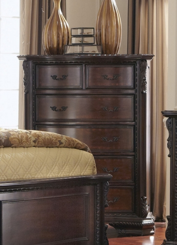 Maddison Chest - Brown Cherry