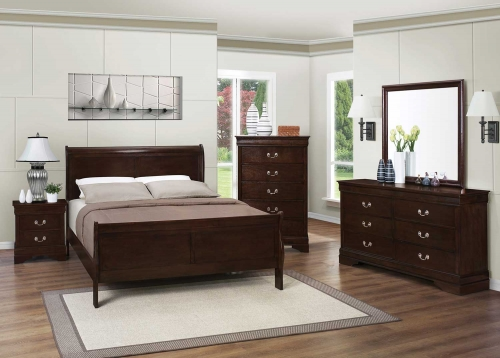 Louis Philippe Bedroom Set - Cappuccino