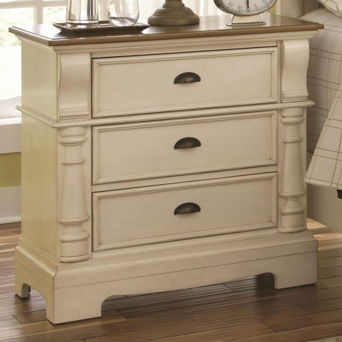 Oleta Night Stand - Buttermilk/Brown