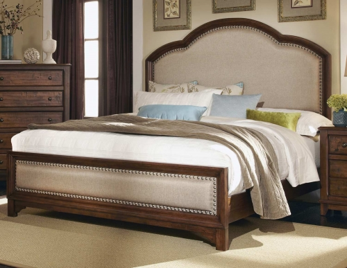 Laughton 203261 Bed - Cocoa Brown