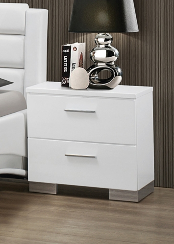 Felicity Night Stand - White