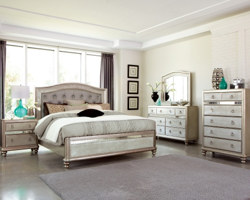 Bling Game Bedroom Set - Metallic Platinum