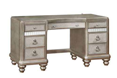 Bling Game Vanity Desk - Metallic Platinum