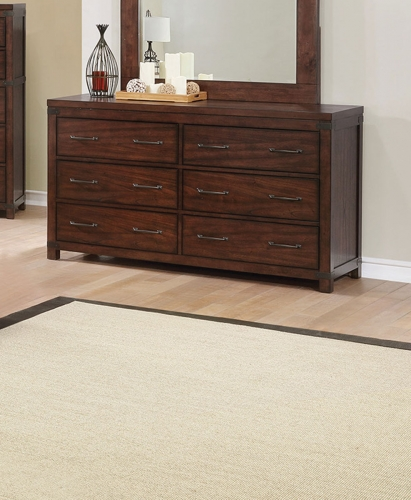 Artesia 6 Drawer Dresser - Dark Cocoa