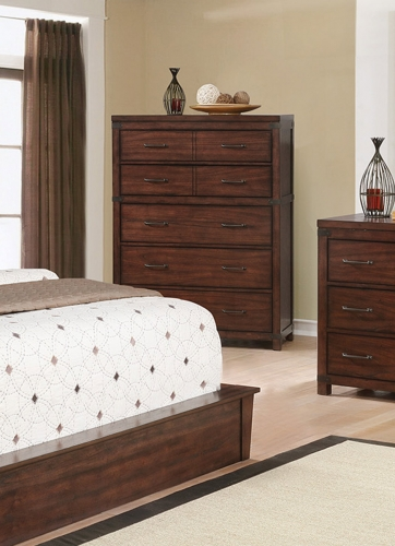 Artesia 5 Drawer Chest - Dark Cocoa