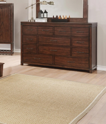 Artesia 10 Drawer Dresser - Dark Cocoa