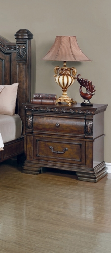 Satterfield Nightstand - Warm Bourbon