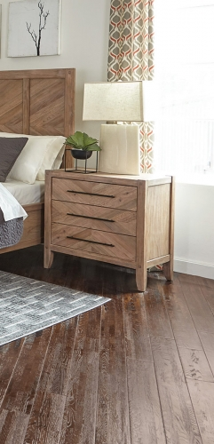 Auburn Nightstand - White Washed Natural