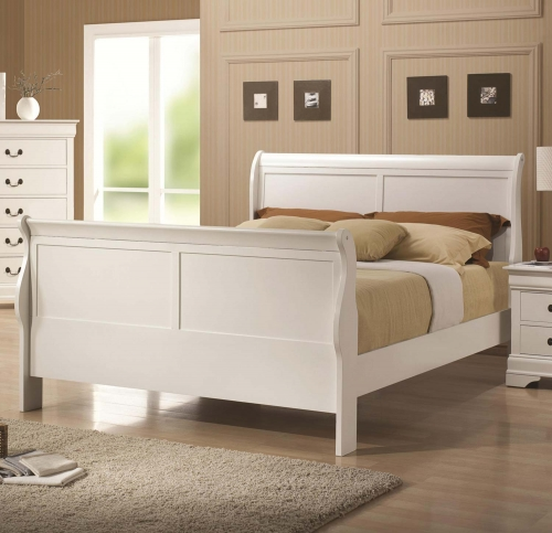 Louis Philippe Bed - White