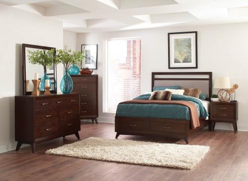 Carrington Bedroom Set - Coffee